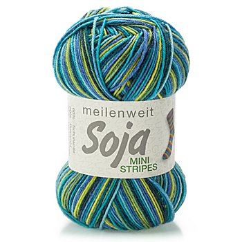 Lana Grossa Laine à chaussettes 'Meilenweit Soja Mini Stripes'