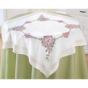 Stickmitteldecke 'Blumenbouquet'