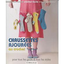 Livre 'Chaussettes ajourées au crochet'