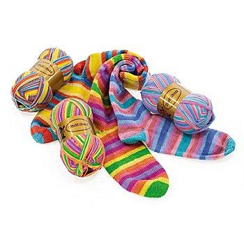 Set éco Woll Butt laine à chaussettes 'Farbenmeer', 300 g