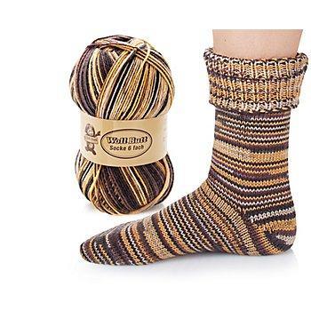 Woll Butt Laine à chaussettes Socke, multicolore, 6 fils