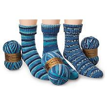 Set Woll Butt laine à chaussettes 'courants marins', 300 g