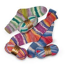 Set Woll Butt laine à chaussettes 'floraison', 300 g
