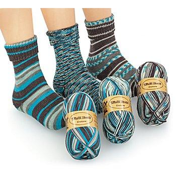 Set éco Woll Butt laine à chaussettes 'Crotone', 300 g