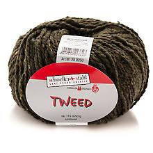 Schoeller + Stahl Wolle Tweed - Modegarn, oliv