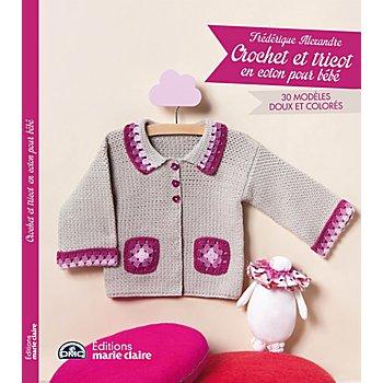 Livre 'Crochet et tricot en coton pour bébé'