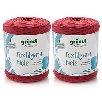 Gründl Textilgarn Nele, Rottöne, 1000 g