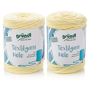 Gründl Textilgarn Nele, Gelbtöne, 1000 g