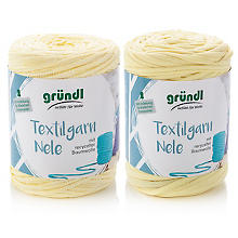 Gründl Fil textile Nele, tons jaunes, 2x 500 g