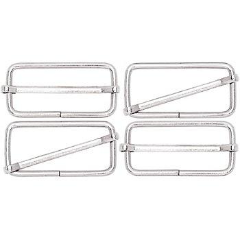 buttinette Leiterschnallen, silber, für 40 mm breite Bänder, 4 Stück