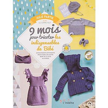 Livre '9 mois pour tricoter les indispensables de bébé'
