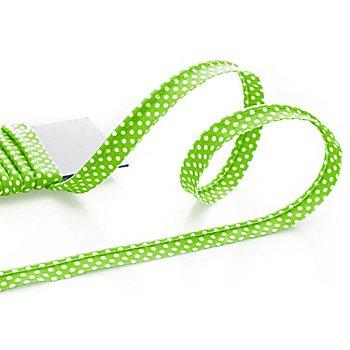 buttinette Baumwoll-Paspelband 'Punkte', grün-weiß, 4 mm Ø, 5 m