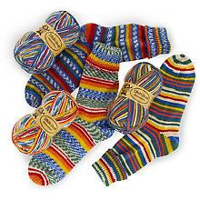 Pack de laine à chaussettes Woll Butt 'danse du soleil', 300 g