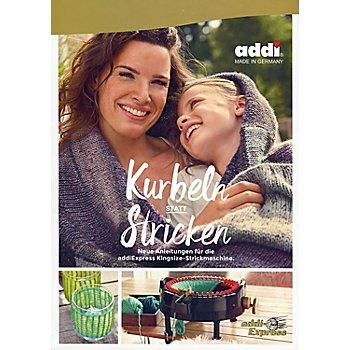 Buch 'Kurbeln statt Stricken' mit der addi Express Kingsize-Strickmaschine
