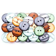 buttinette Mode-Knöpfe, Größe: 22 mm Ø, Inhalt: 40 Stück