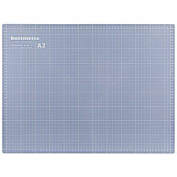 buttinette Profi-Schneidematte, 60 x 45 cm, blau/grau
