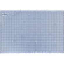 buttinette Profi-Schneidematte, 90 x 60 cm, blau/grau