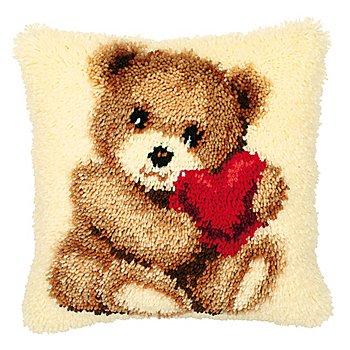 Knüpfkissen 'Teddybär'