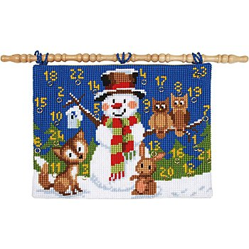 Adventskalender 'Schneemann mit Waldtieren'