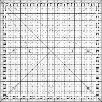 buttinette Rollschneider-Lineal, in cm-Einheit, Größe: 30 x 30 cm