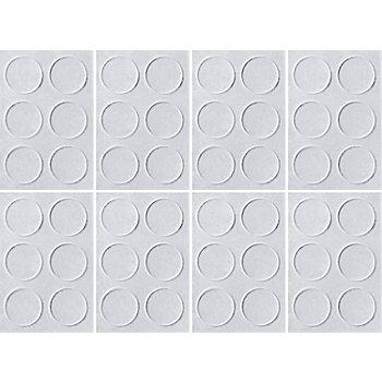 buttinette Pastilles 'fixe-règle', autocollant, 10 mm Ø, 48 pièces
