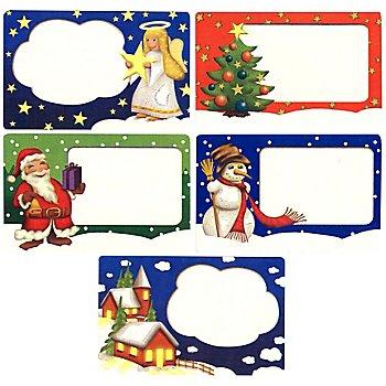 Wenko Klebeetiketten 'Weihnachten', Grösse: 7 x 4,5 cm, Inhalt: 100 Stück