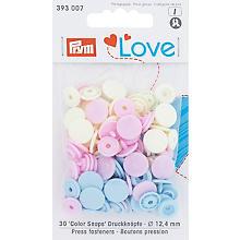 Prym Boutons pression 'Color Snaps', tons pastel, 12,4 mm Ø, 30 pièces