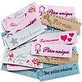 """buttinette Label-Set """"handmade"""" in Französisch, Größe: 5,5 x 1,6 cm, Inhalt: 30 Stück"""
