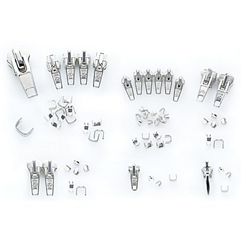 buttinette Set d'accessoires pour réparer des fermetures à glissières