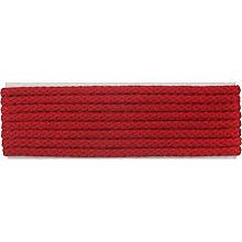 buttinette Cordon pour veste, rouge, 4 mm Ø, longueur : 4 m