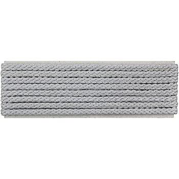 buttinette Cordon pour veste, gris clair, 4 mm Ø, longueur : 4 m
