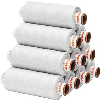 buttinette Universal-Nähgarn, Stärke: 100, 10er-Pack, weiß