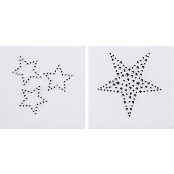 buttinette Strass-Applikationen 'Sterne', Grösse: 2,8 - 6 cm, Inhalt: 4 Motive