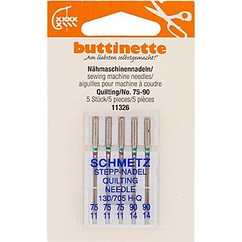 buttinette Nähmaschinennadeln 'Quilting', Stärke: 75 - 90, Inhalt: 5 Stück