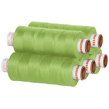 buttinette Universal-Nähgarn, Stärke: 100, 5er-Pack, hellgrün
