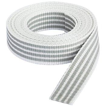 buttinette Sangle pour sacs 'rayures', blanc/gris clair, largeur : 2,5 cm, longueur : 3 m