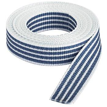 buttinette Taschengurtband 'Streifen', weiss-marine, Breite: 2,5 cm, Länge: 3 m