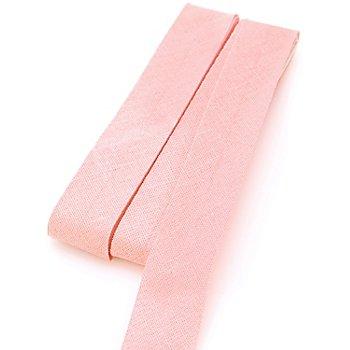 buttinette Baumwoll-Schrägband, rosé, Breite: 2 cm, Länge: 5 m