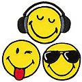 """Mono-Quick Applikationen """"Smiley®Cool"""", Größe: 3,5 - 4,9 cm, Inhalt: 3 Stück"""