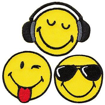 Mono-Quick Applikationen 'Smiley®Cool', Größe: 3,5 - 4,9 cm, Inhalt: 3 Stück