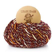 Woll Butt Laine Lola, mélange d'acrylique, bordeaux multicolore
