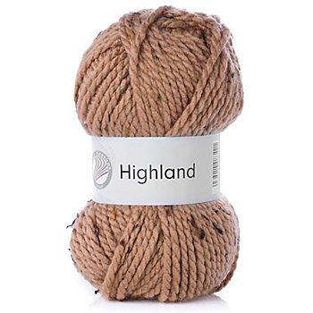 Laine Four Seasons Highland - mélange acrylique, chamois