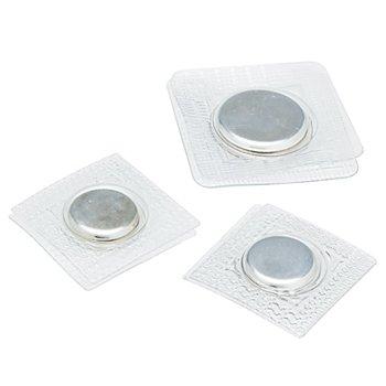 buttinette Magnet-Verschlüsse zum Einnähen, Grösse: 15 + 19 mm Ø, Inhalt: 3 Stück