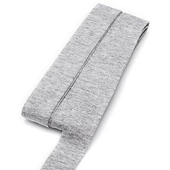 buttinette Jersey-Einfassband, hellgrau, Breite: 2 cm, Länge: 3 m