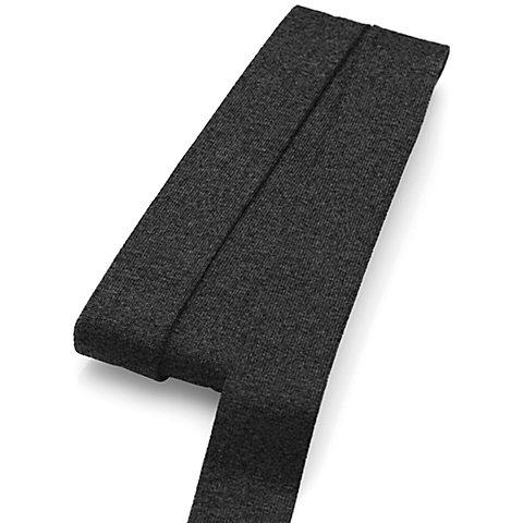 Image of buttinette Jersey-Einfassband, dunkelgrau-meliert, Breite: 2 cm, Länge: 3 m