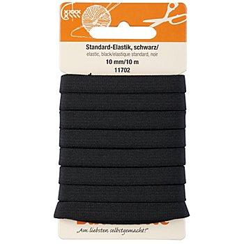 buttinette Gummiband 'Standard-Elastik', schwarz, Breite: 10 mm, Länge: 10 m