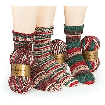 Set éco Woll Butt laine à chaussettes 'Christmas Wonderland', 300 g