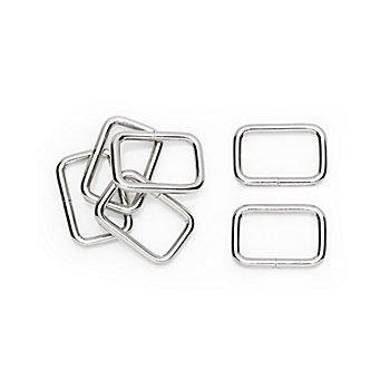 buttinette Vierkantringe, für 25 mm breite Bänder, Inhalt: 6 Stück