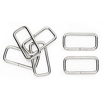 buttinette Vierkantringe, für 40 mm breite Bänder, Inhalt: 6 Stück