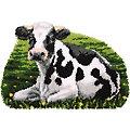 """Tapis au point noué """"vache"""", 70 x 47 cm"""